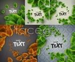 Link toFine green leaf background vector