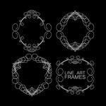 Link toFine line pattern framework vector