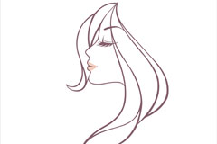 Link toFine line woman head vector