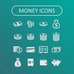 Link toFine money icon vector