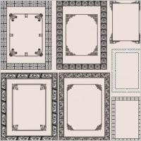Link toFine pattern border 04 vector