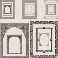 Link toFine pattern border 05 vector
