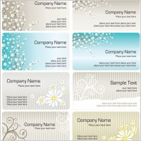 Link toFine pattern business card template 01 vector