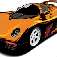 Link toFine sports car 02 vector