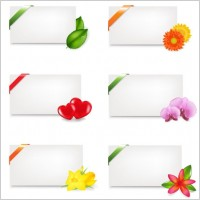 Link toFine stationery and flowers vector