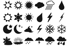 Fine weather forecast icon vector