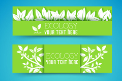 Link toFine white leaf paper-cut banner vector