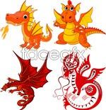 Link toFire-breathing dragon vector