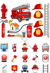 Link toFire-fighting appliances vector