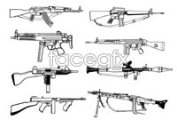 Link toFirearms soliciting design line vector