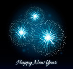 Link toFireworks new year card vector