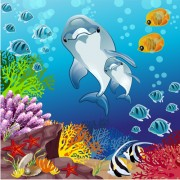 Link toFish and beautiful underwater world vector free