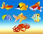 Link toFish and crab vector