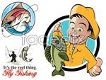 Link toFish cartoon vector
