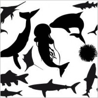 Link toFish silhouettes vector