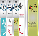 Fish theme banners vector