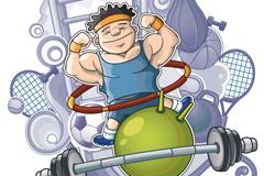 Link toFitness cartoons character vector illustration
