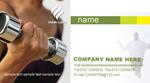 Link toFitness club business cards psd