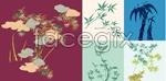 Link toFive bamboo artwork vector