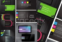 Link toFive beautiful business card template vector