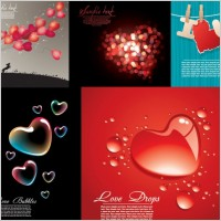 Link toFive beautiful heartshaped vector love theme