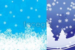 Link toFive beautiful snow ai vector