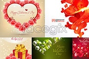 Link toFive beautiful valentine's day vector