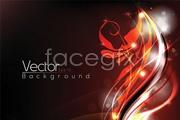 Link toFive bright light fantasy flower background vector