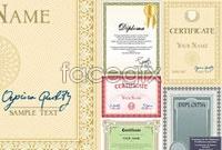 Link toFive-card certificate template suitable