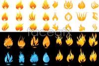Link toFive flames vector map