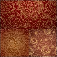 Link toFive gorgeous pattern vector