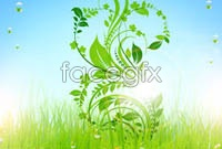 Link toFive grassland in green pattern vector