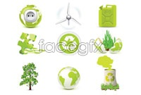 Link toFive green eco icon vector