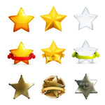 Link toFive-pointed star design vector