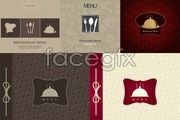 Link toFive restaurant menu cover vector