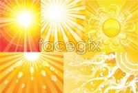 Link toFive solar beam background vector