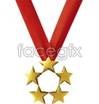 Link toFive-star safety medal psd