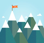 Link toFlags of the snow mountain vector