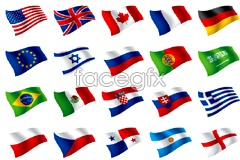 Link toFlags of the world flag vector