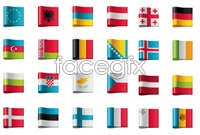 Link toFlags tab icon vector