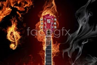 Flame guitar hd pictures