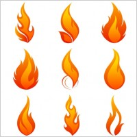 Link toFlame icon 01 vector
