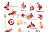 Link toFlame logo logo design vector