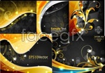 Link toFlash bright gold flowers vector