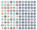 Link toFlat app icon vector