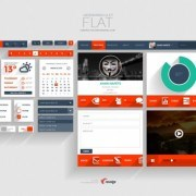 Link toFlat application psd template