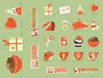 Link toFlat cartoon icons vector
