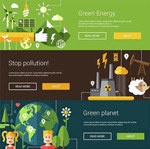 Link toFlat eco-illustrations vector