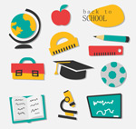 Link toFlat elements of campus icons vector