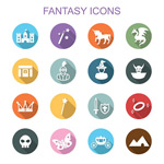 Link toFlat fairy tale icons vector